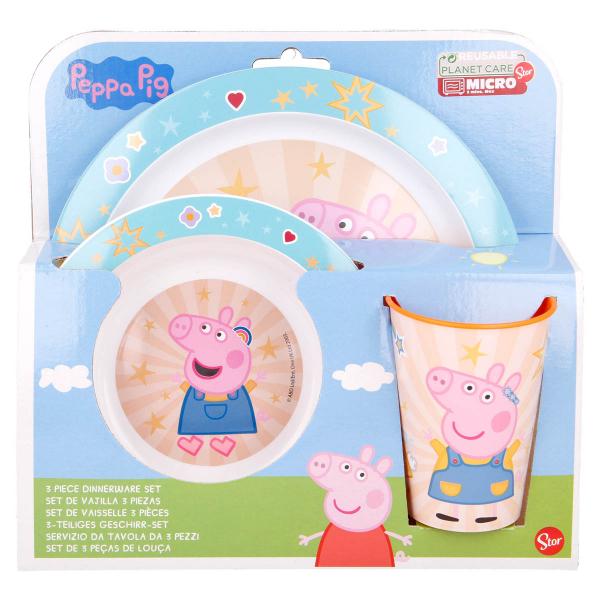 Παιδικό Σετ Φαγητού 3τμχ Stor Peppa Pig 41249