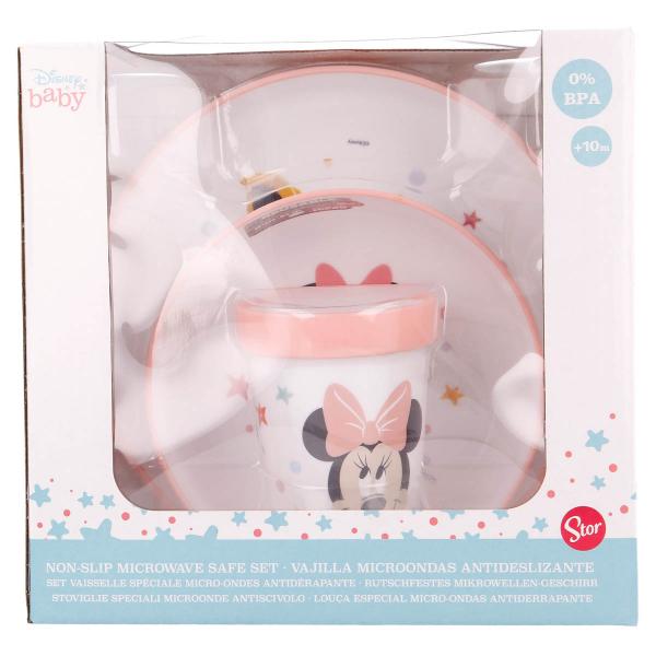 Παιδικό Σετ Φαγητού 3τμχ Stor Minnie Mouse 13195