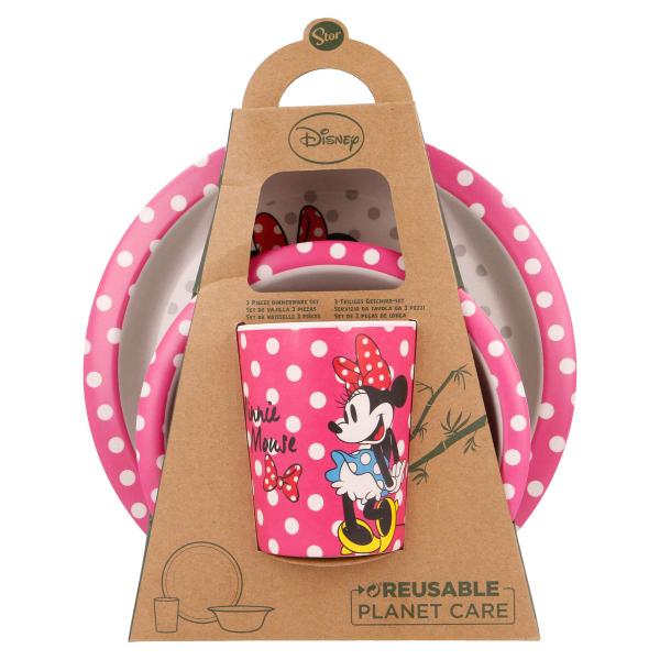 Παιδικό Σετ Φαγητού 3τμχ Stor Minnie Mouse 01285