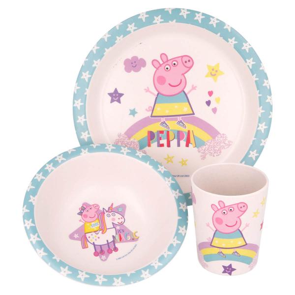 Παιδικό Σετ Φαγητού 3τμχ Stor Peppa Pig 01385