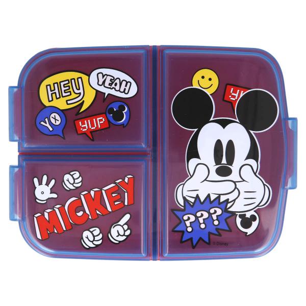 Φαγητοδοχείο Με Χωρίσματα Stor Mickey Mouse 50120