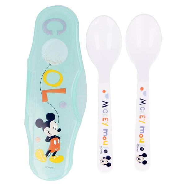 Κουτάλια Φαγητού (Σετ 2τμχ) Σε Θήκη Stor Mickey Mouse 13066