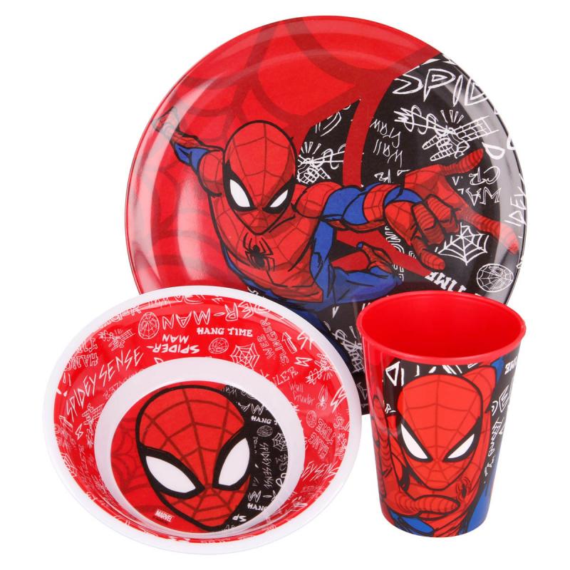 Παιδικό Σετ Φαγητού 3τμχ Stor Spiderman 51390