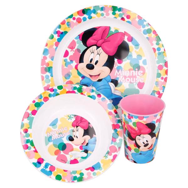 Παιδικό Σετ Φαγητού 3τμχ Stor Minnie Mouse 51149