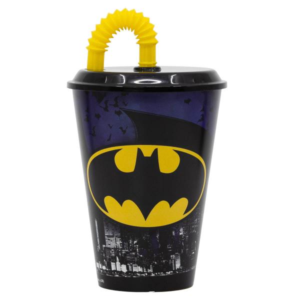 Ποτήρι Με Καπάκι & Καλαμάκι Stor Batman 85540