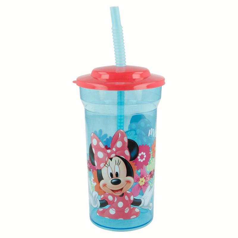 Ποτήρι Με Καπάκι & Καλαμάκι Stor Minnie Mouse 14508