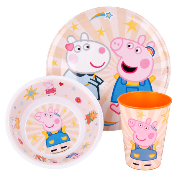 Παιδικό Σετ Φαγητού 3τμχ Stor Peppa Pig 41259