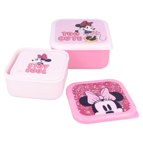 Φαγητοδοχεία (Σετ 3τμχ) Stor Minnie Mouse 60158