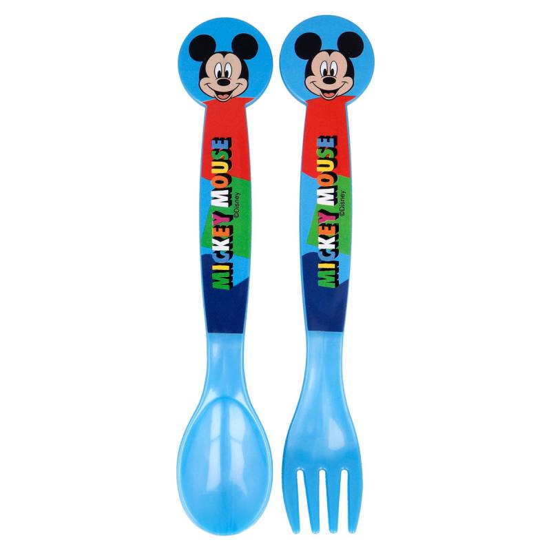 Κουτάλι + Πιρούνι (Σετ) Stor Mickey Mouse 50117