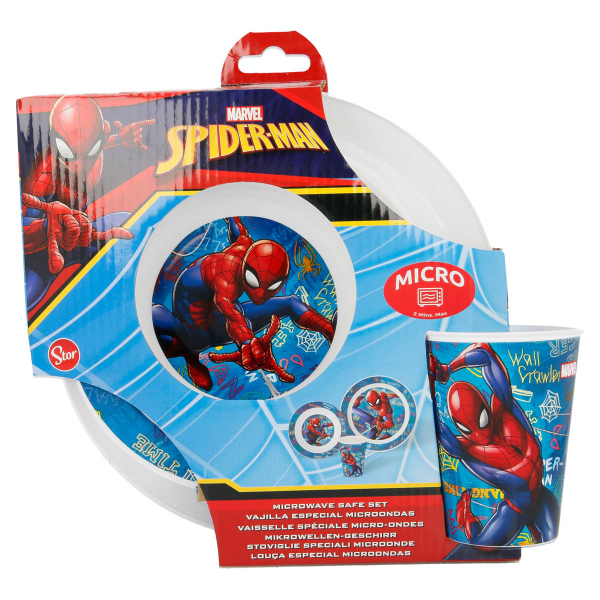 Παιδικό Σετ Φαγητού 3τμχ Stor Spiderman 37950