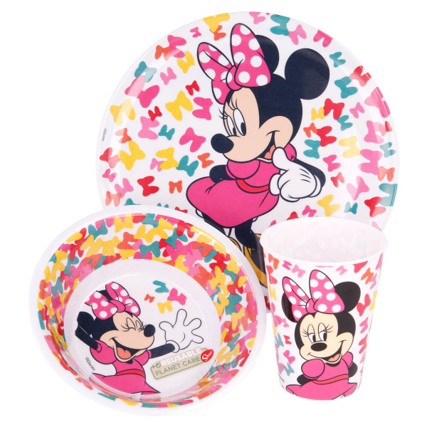 Παιδικό Σετ Φαγητού 3τμχ Stor Minnie Mouse 51190
