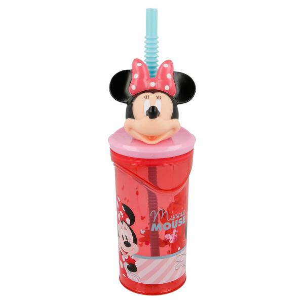 Παγούρι Με Καλαμάκι 360ml Stor Minnie Mouse 18866