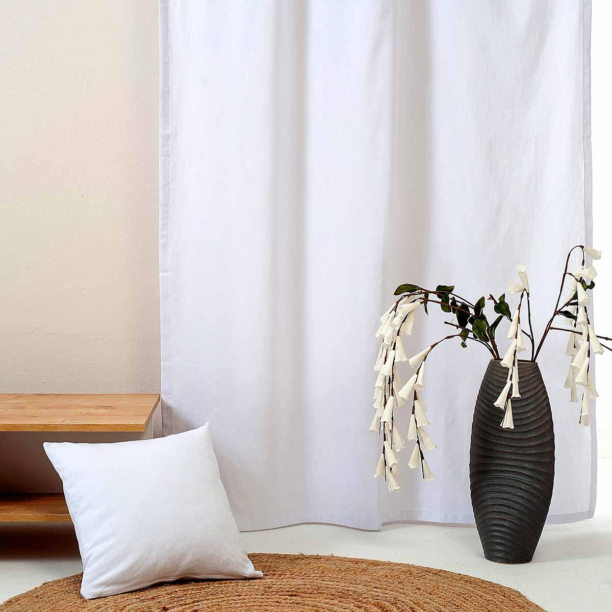 Κουρτίνα (300×270) Με Τρέσα Ravelia Fiume 090 White