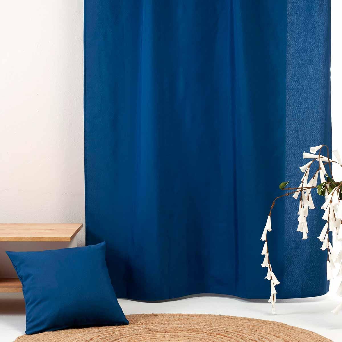 Κουρτίνα (300×270) Με Τρέσα Ravelia Fiume 608 Navy Blue