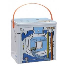 Κουτί Αποθήκευσης Ορθογώνιο Μεταλλικό Espiel Πλυντήριο HUG102