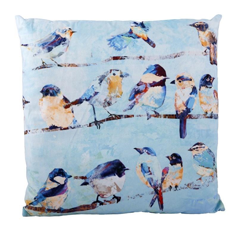 Μαξιλάρα Δαπέδου Espiel Πουλάκια Γαλάζιο HEM216 home   σαλόνι   μαξιλάρες   πουφ   σκαμπό