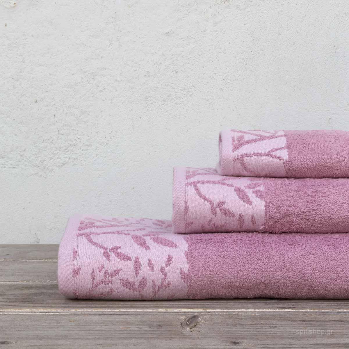 Πετσέτες Μπάνιου (Σετ 3τμχ) Kocoon Madlen Pink