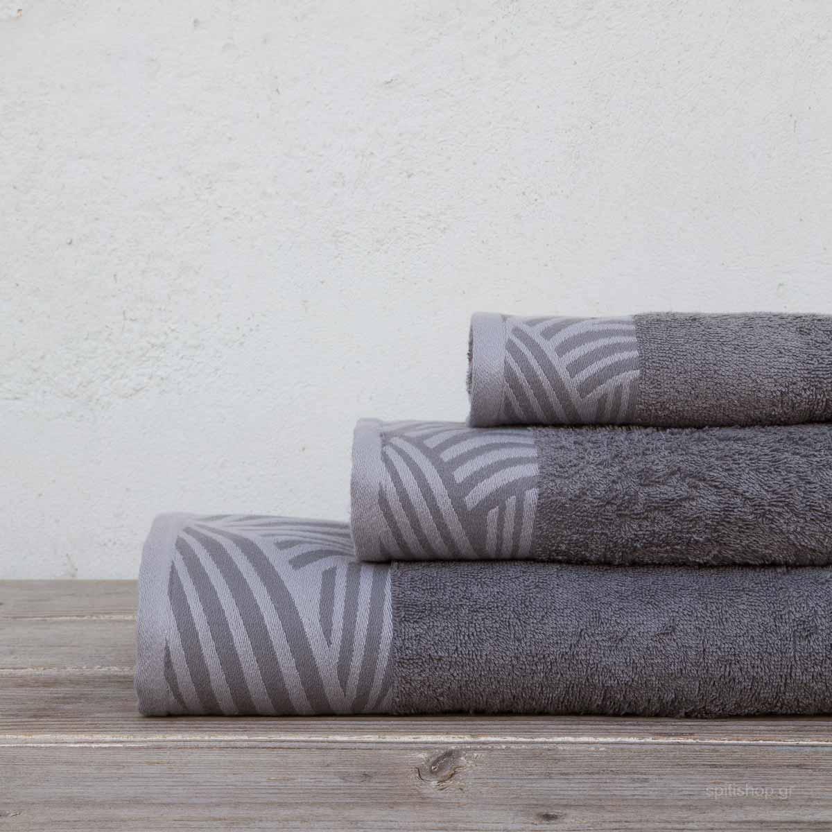 Πετσέτες Μπάνιου (Σετ 3τμχ) Kocoon Yarn Grey