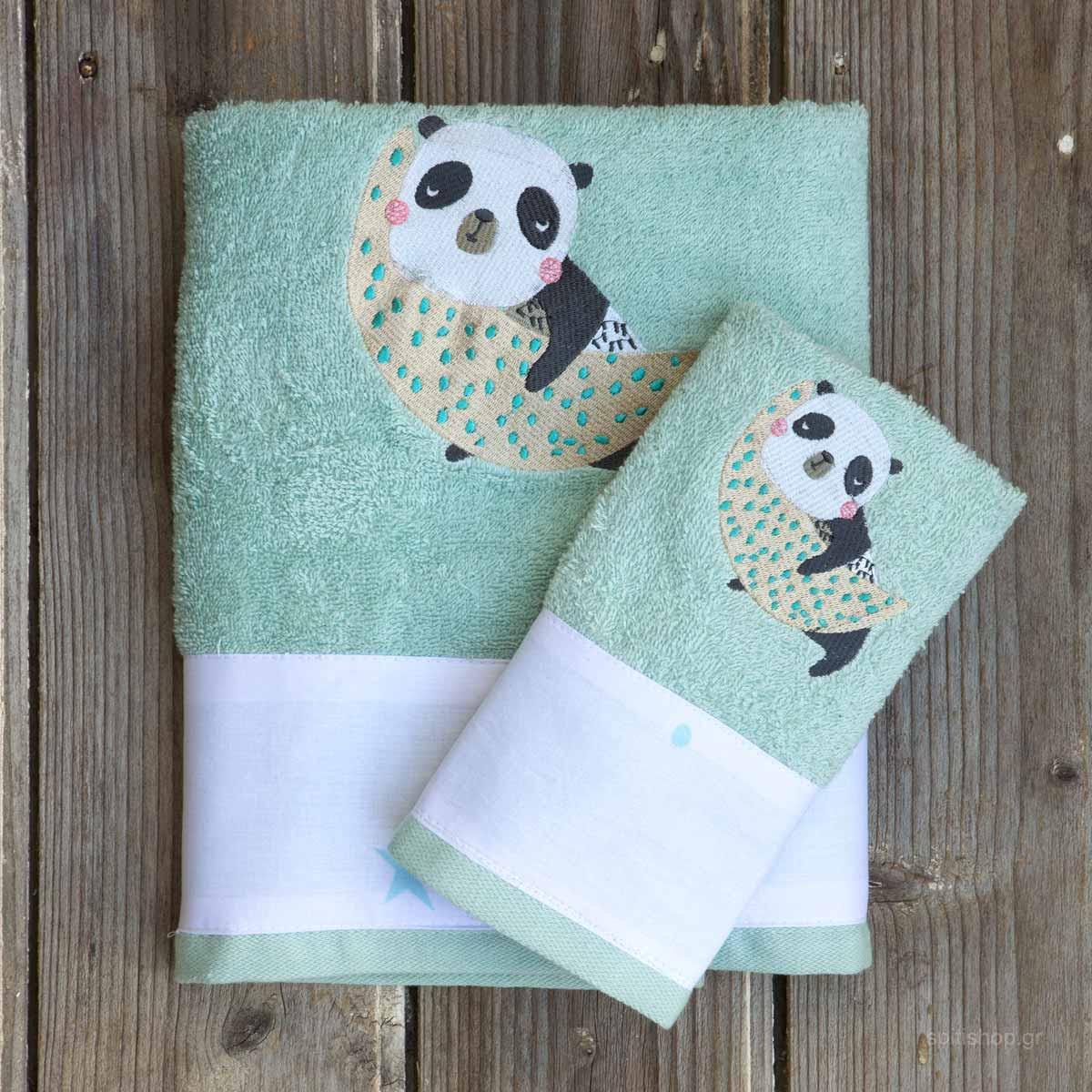 Παιδικές Πετσέτες (Σετ 2τμχ) Kocoon Space Panda