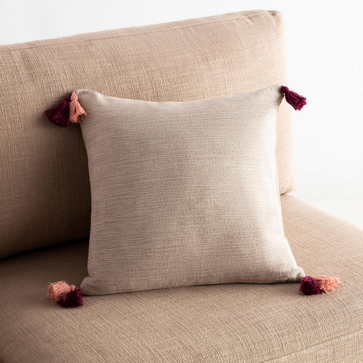 Διακοσμητική Μαξιλαροθήκη (43×43) Gofis Home Trace Red Leather/Σομόν 467/02