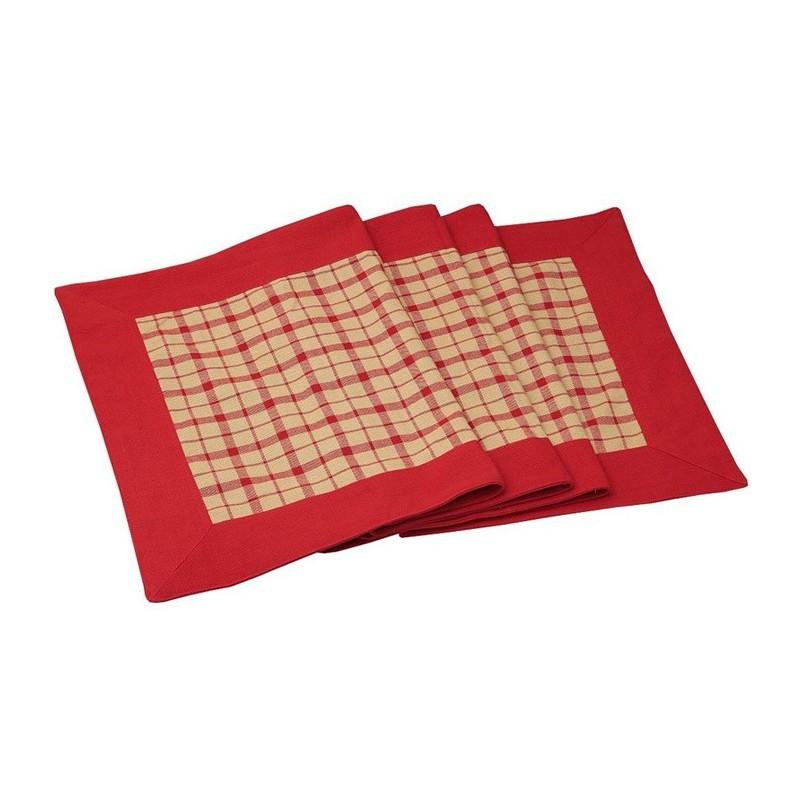 Τραπεζομάντηλο (140x180) Espiel Κόκκινο Καρώ OTH202