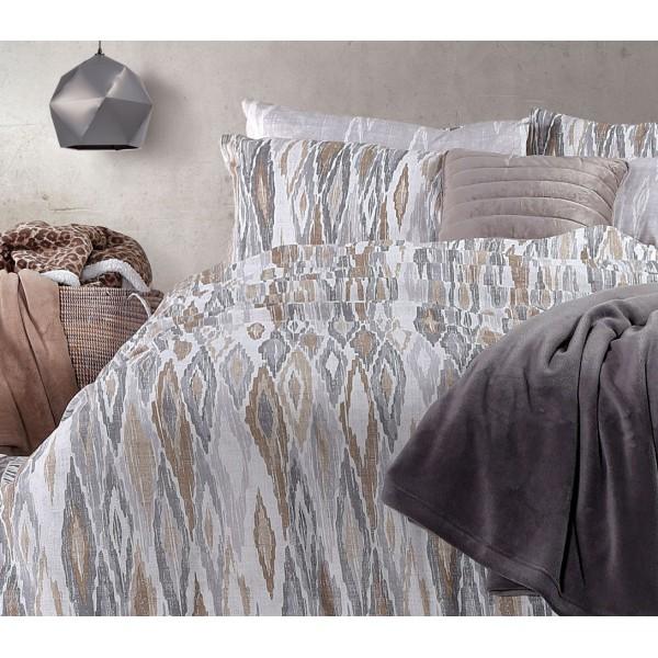 Παπλωματοθήκη Υπέρδιπλη (Σετ) Nef-Nef Smart Line Cersei Grey