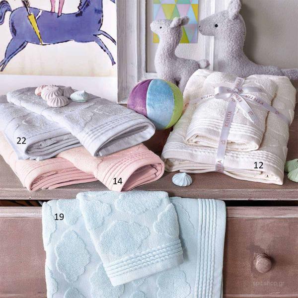 Βρεφική Πετσέτα Σώματος (70x125) Kentia Kids Cloud