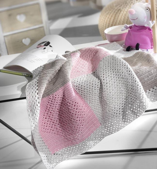 Κουβέρτα Πλεκτή Αγκαλιάς Nima Milk Chiko Pink