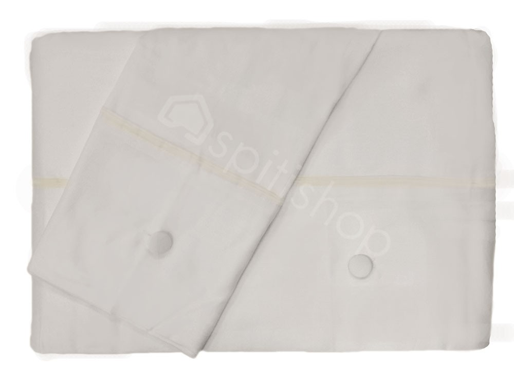 Παπλωματοθήκη Υπέρδιπλη (Σετ) Nima Satin Cotton Φάσα 380 White