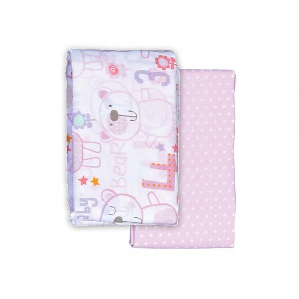 Σεντόνια Λίκνου (Σετ) Nef-Nef Baby Bears Pink