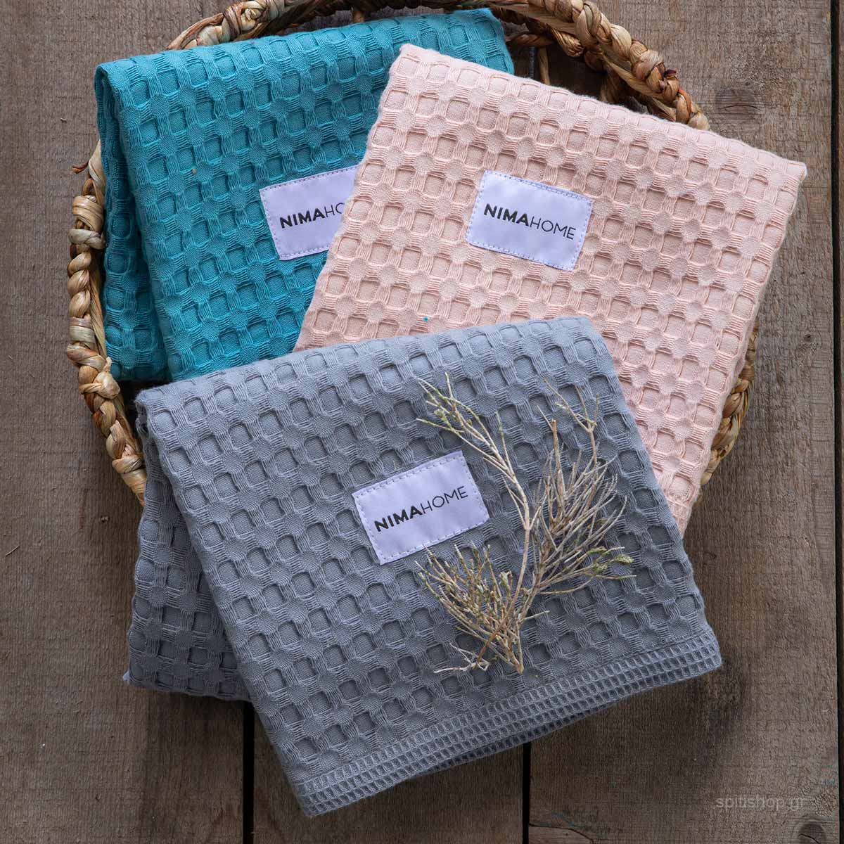 Ποτηρόπανα Πικέ (Σετ 3τμχ) Nima Kitchen Towels Limpa