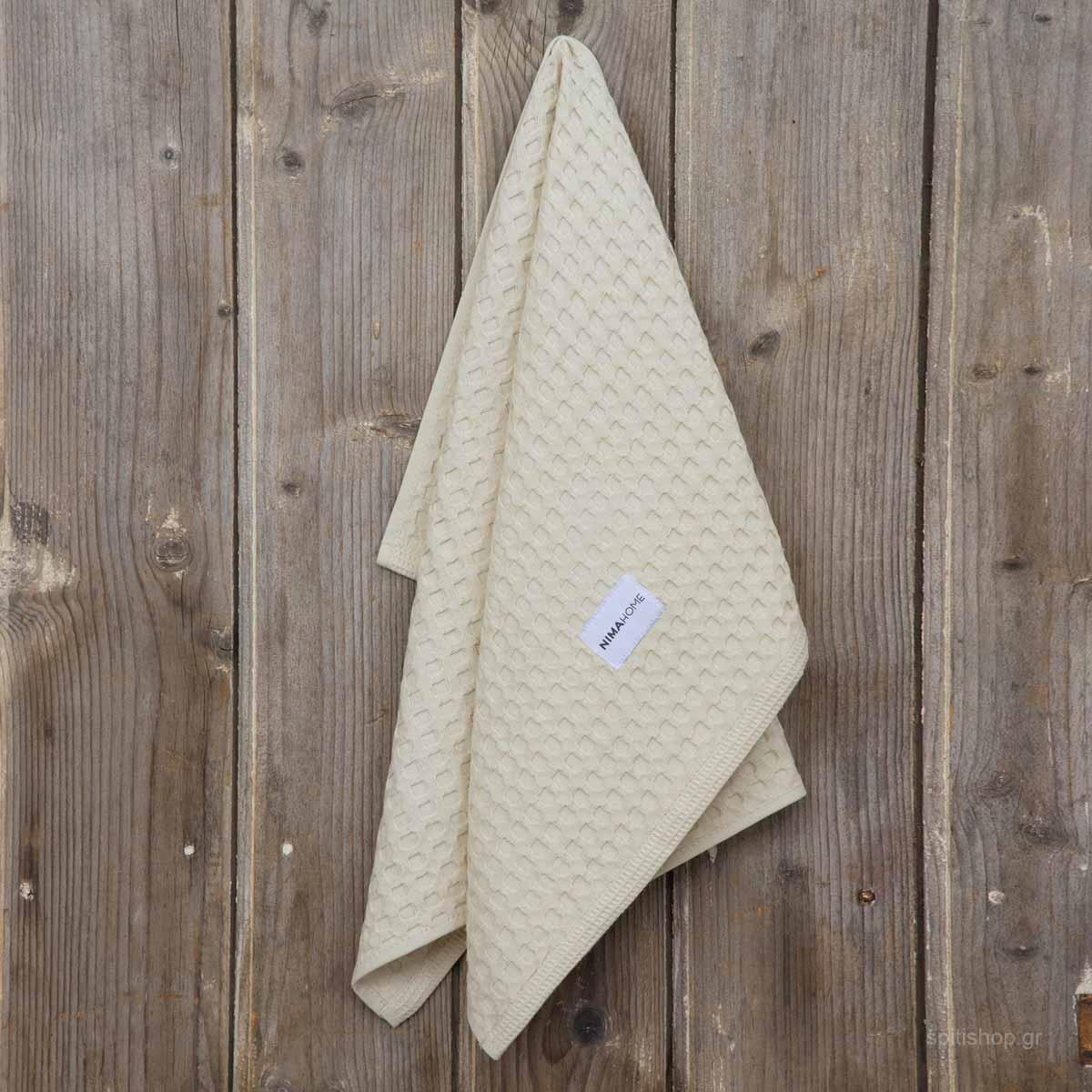 Ποτηρόπανo Πικέ Nima Kitchen Towels Seca Beige