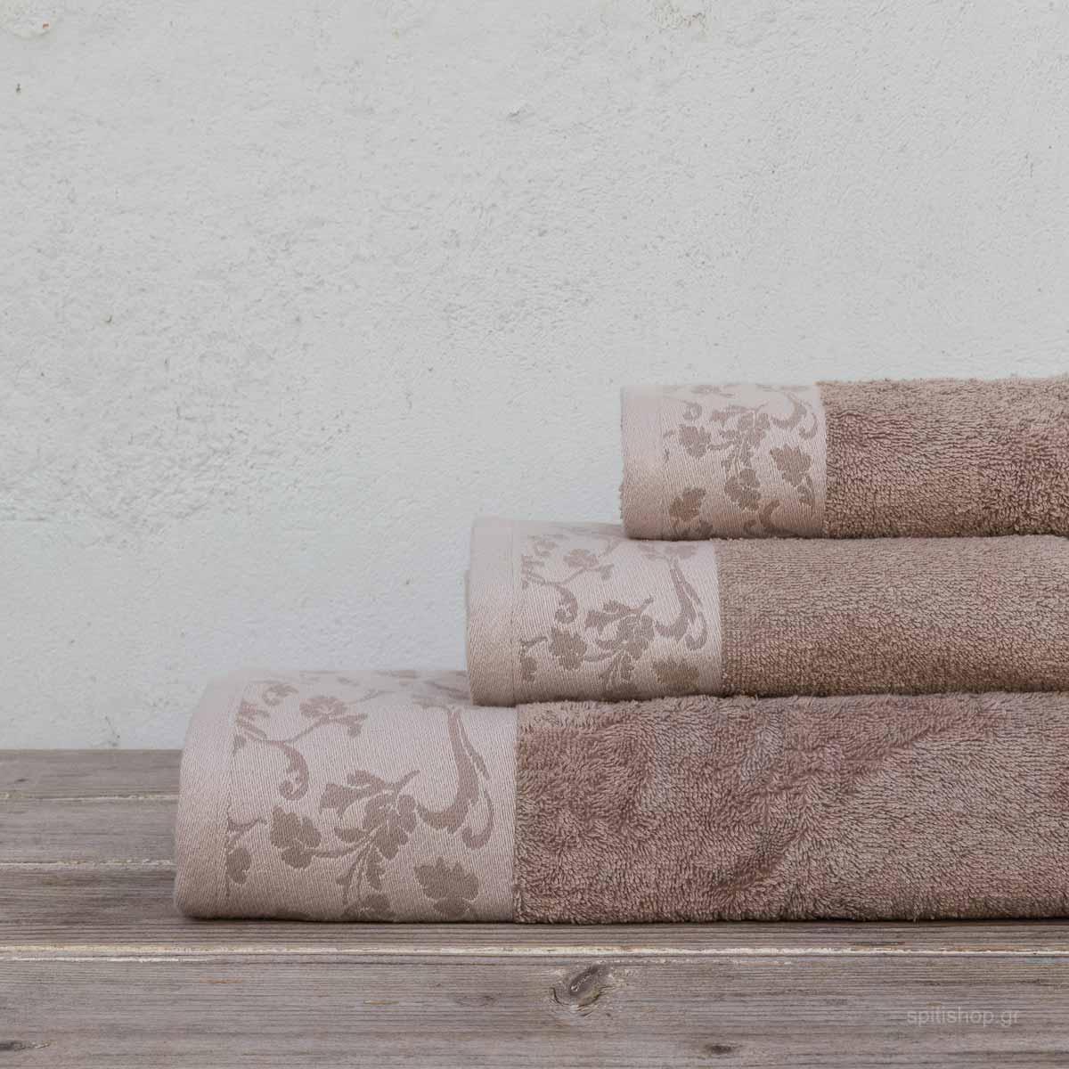 Πετσέτες Μπάνιου (Σετ 3τμχ) Kocoon Rebecca Beige