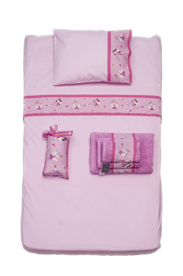 Σεντόνια Κούνιας (Σετ) Miss Coco Fairy Pink