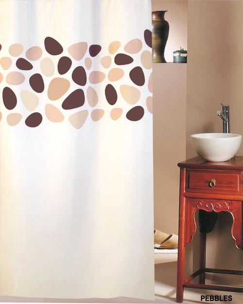 Κουρτίνα Μπάνιου (240×180) San Lorentzo Pebbles Brown