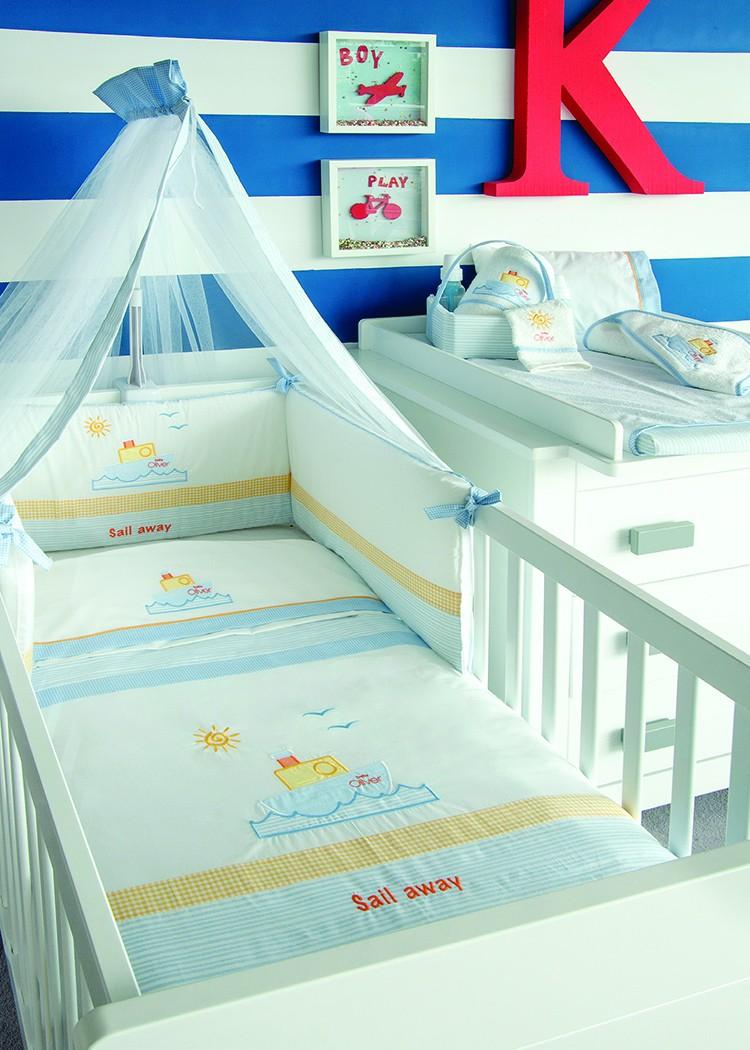 Σεντόνια Κούνιας (Σετ) Baby Oliver Sail Away 632