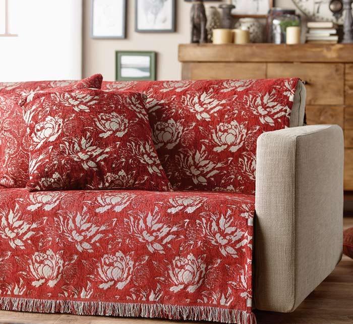 Διακοσμητική Μαξιλαροθήκη Gofis Home Waterlily 356 Bordeaux
