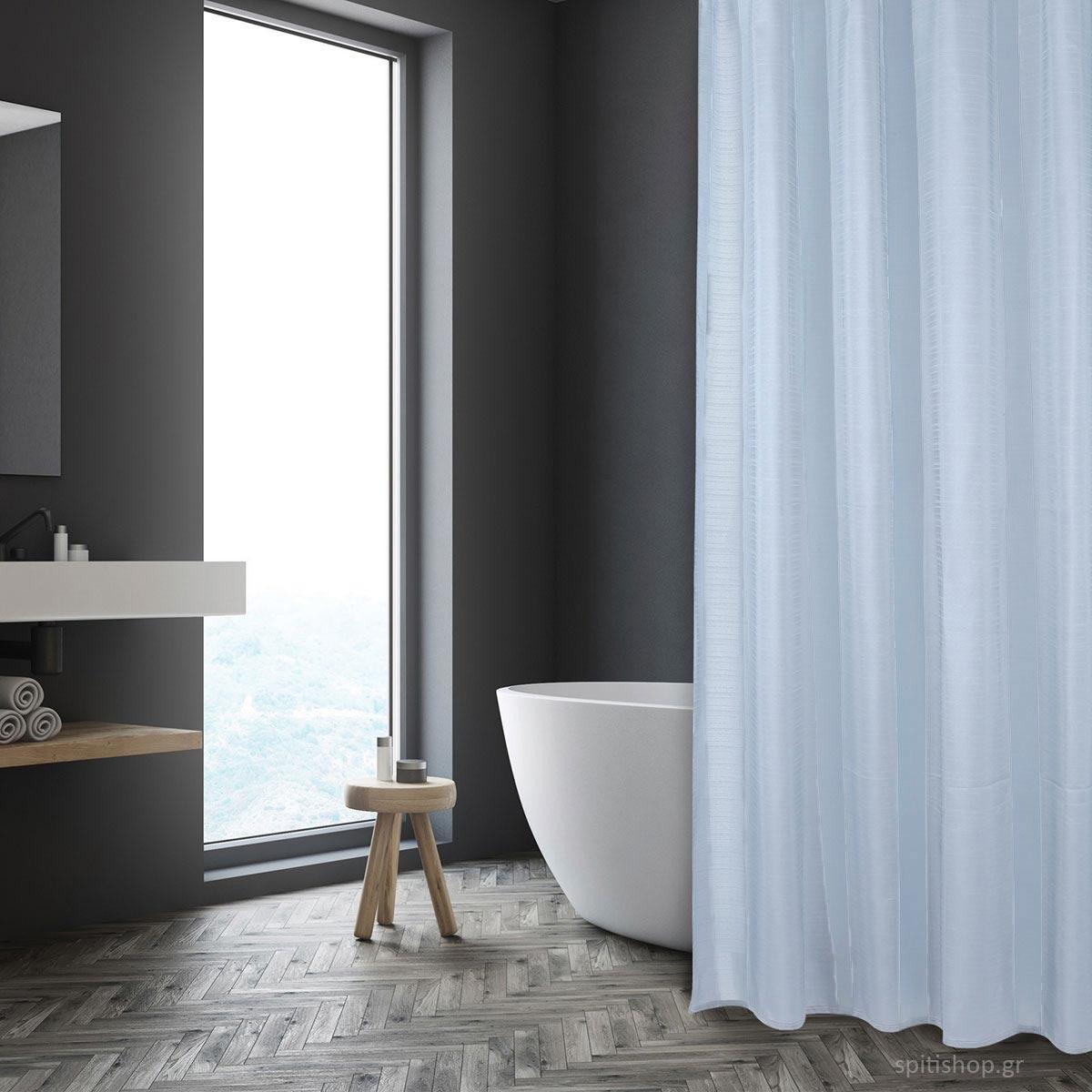 Κουρτίνα Μπάνιου (200×180) Das Home Bath 1087 Ciel