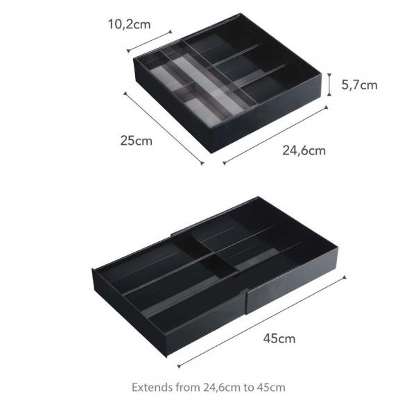 Επεκτεινόμενη Θήκη Συρταριού Για Μαχαιροπήρουνα Yamazaki Slide Black 3383