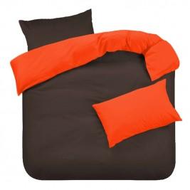 Πάπλωμα Μονό Διπλής Όψης Fratoni Chocolate/Orange