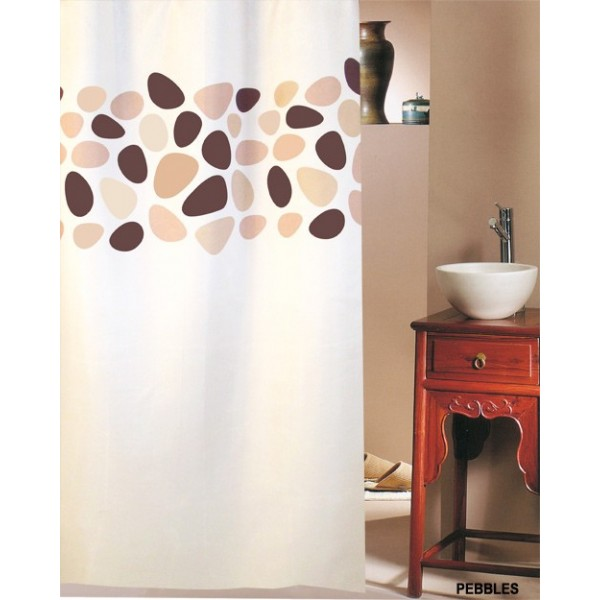 Κουρτίνα Μπάνιου (240x200) San Lorentzo Pebbles Brown
