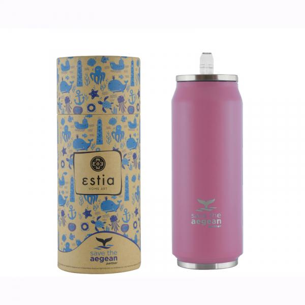 Θερμός 500ml Estia Save The Aegean Baby Pink 01-10317