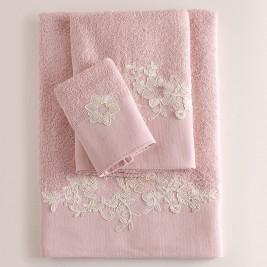 Πετσέτες Μπάνιου (Σετ 3τμχ) Rythmos Frida Pink