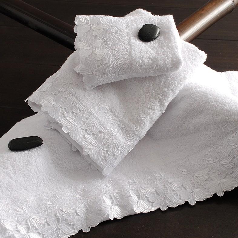 Πετσέτες Μπάνιου (Σετ 3τμχ) Rythmos Anna White