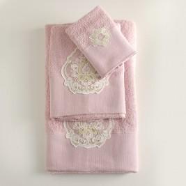 Πετσέτες Μπάνιου (Σετ 3τμχ) Rythmos Seyla Pink
