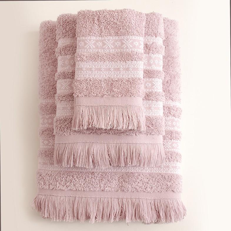 Πετσέτες Μπάνιου (Σετ 3τμχ) Rythmos Mavi Pink