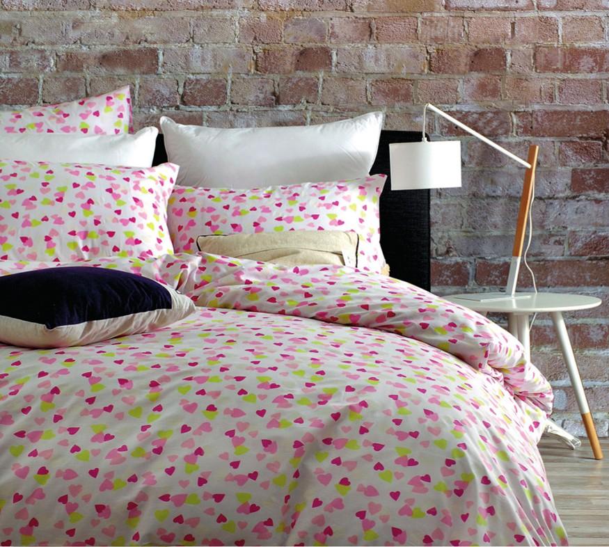 Πάπλωμα Υπέρδιπλο (Σετ) Rythmos Next Hearts Pink