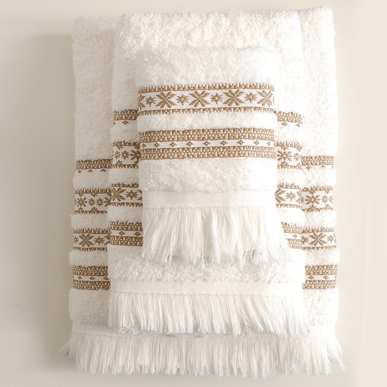Πετσέτες Μπάνιου (Σετ) Rythmos Mavi Ecru