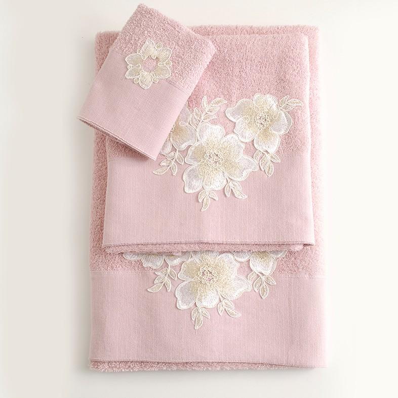 Πετσέτες Μπάνιου (Σετ 3τμχ) Rythmos Lia Pink