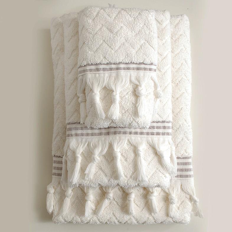 Πετσέτες Μπάνιου (Σετ 3τμχ) Rythmos Canada Ecru